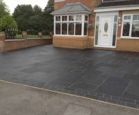 Black Limestone with Cobble Border