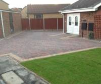 Brindle block paving with buff border